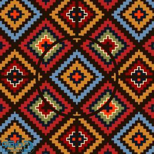لوزی های رنگین - رویه مبل سنتی پنج تیکه 4 نفره