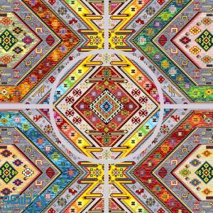 مَینا - رویه مبل سنتی پنج تیکه 4 نفره