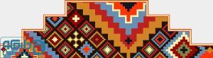 لوزی های رنگین - سینه بند اسب و شتر (سر پرده اتاق)