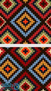 لوزی های رنگین  - رویه پشتی سنتی 2 تیکه