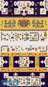 قاب های طلایی - رویه پشتی سنتی 2 تیکه
