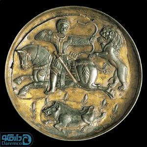 بشقاب با نقش شاهزاده ساسانی