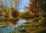 پاییز آرام یک رود