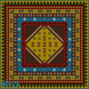 ایلی عشایری 16 درشتبافت- مربع بزرگ