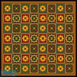 ایلی عشایری 17 درشتبافت- مربع بزرگ