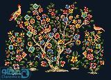 درختچه گل و پرنده 8(بالشت بزرگ 8)