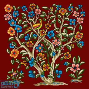 درختچه گل و پرنده 6(کوسن بزرگ 6)