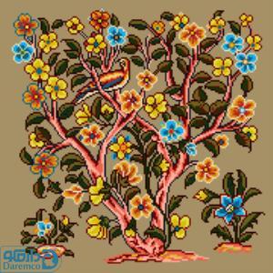 درختچه گل و پرنده 5(کوسن بزرگ 5)