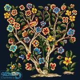 درختچه گل و پرنده 4(کوسن بزرگ 4)