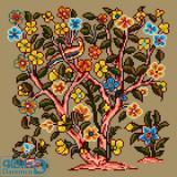 درختچه گل و پرنده 2(کوسن کوچک 2)
