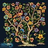 درختچه گل و پرنده 1(کوسن کوچک 1)