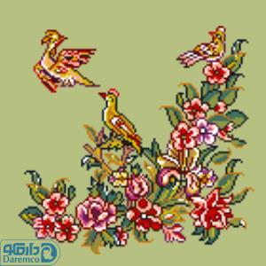 پرندگان و بهار 3(کوسن کوچک 3)
